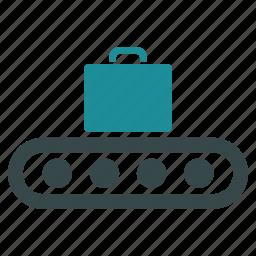 bag, baggage, briefcase, case, conveyor, luggage, transportation icon
