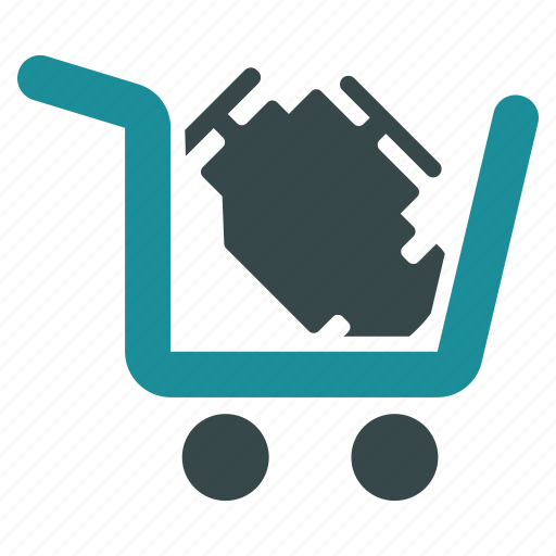 buy, cart, engine, order, purchase, shopping, trolley icon