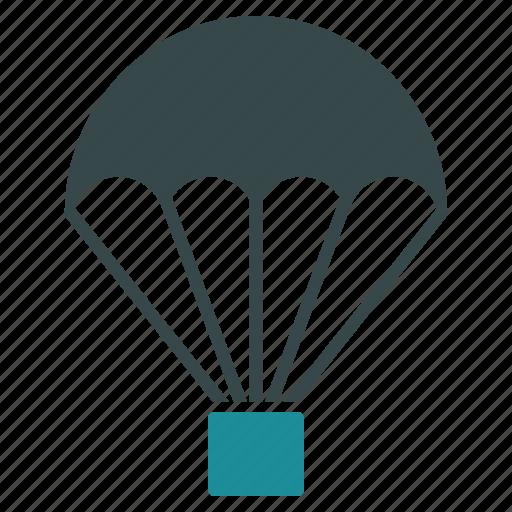 chute, drop, guardar, landing, parachute, parachutism, save, skydiving icon