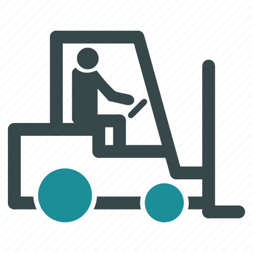 fork lift truck, forklift, loader, logistic, transport, transportation, vehicle icon