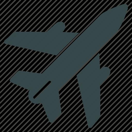 aircraft, airplane, flight, plane, transport, transportation, travel icon