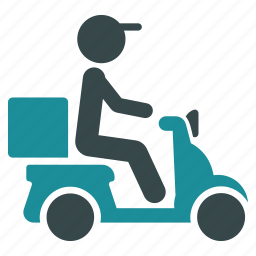 courier, delivery, logistics, motorbike, pizza, shipment, shipping icon