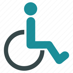 damaged, disable, disabled person, handicap, invalid, patient, wheelchair icon