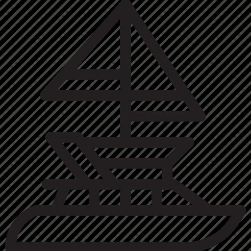 automobile, car, ship, transport, transportation, vehicle, yacht icon