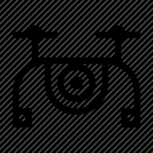 camera, delivry, drone, package, video icon