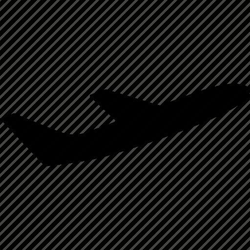 aeroplane, airline, airplane, flight, jetliner, plane, side icon