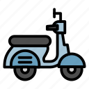 motorcycle, scooter, transportation, travel, vehicle, vespa icon