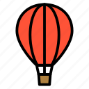 air, ballon, gas ballon, hot air ballon, transportation, travel icon
