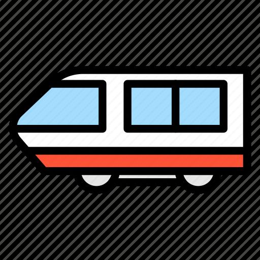 railway, train, transportation, travel, vehicle icon
