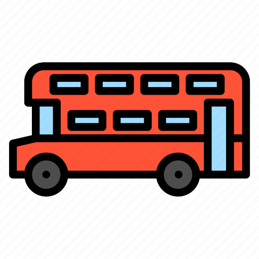 bus, double decker, transportation, traveling, vehicle icon