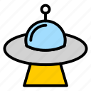 alien, delivery, flying, space, transportation, ufo icon