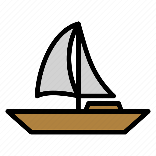 sail, sailboat, sea, ship, transportation icon
