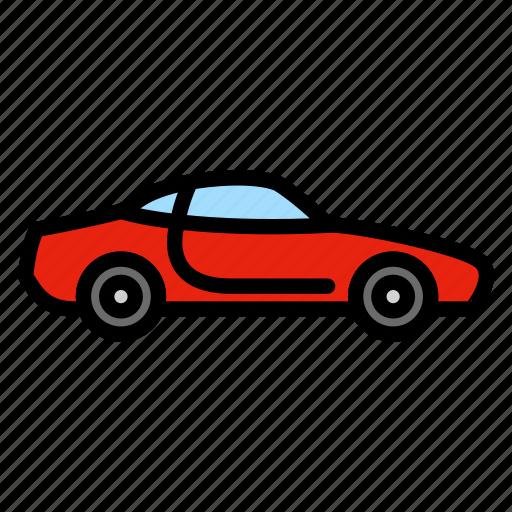 automobile, car, sportcar, transportation, vehicle icon
