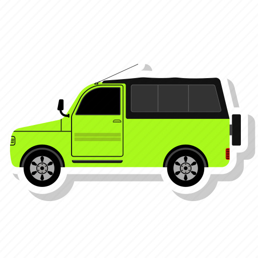 Jeep, car, transportation, transport, vehicle icon