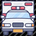 car, ambulance, hospital, emergency icon