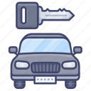 car, key, startup, security icon