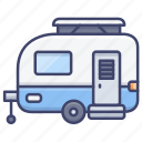 caravan, trailer, camping, travel icon