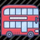 double, bus, decker, london icon