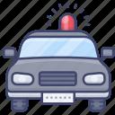 emergency, car, flashing, police