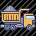 industrial, truck, construction, dump