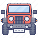 jeep, car, safari, crossover icon