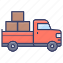 pickup, truck, transport, vehicle icon