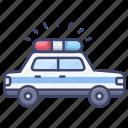 police, car, emergency, vehical