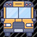 school, bus, transport, vehical icon