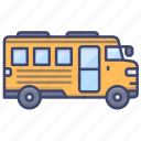 school, bus, vehical, transport icon