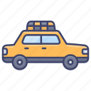 taxi, cab, transport, vehical icon