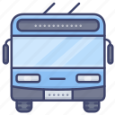trolley, bus, transport, vehical icon
