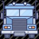 truck, vehicle, cargo, trailer icon