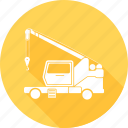 construction, loading, material, transport, truck icon