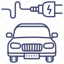car, electric, charge, power icon