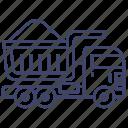 industrial, truck, construction, dump icon