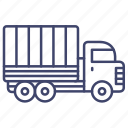 military, truck, cargo, army icon