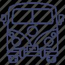 mini, van, car, retro