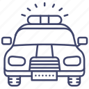 police, car, transport, vehical icon