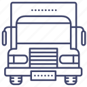 truck, cargo, lorry, transportation icon