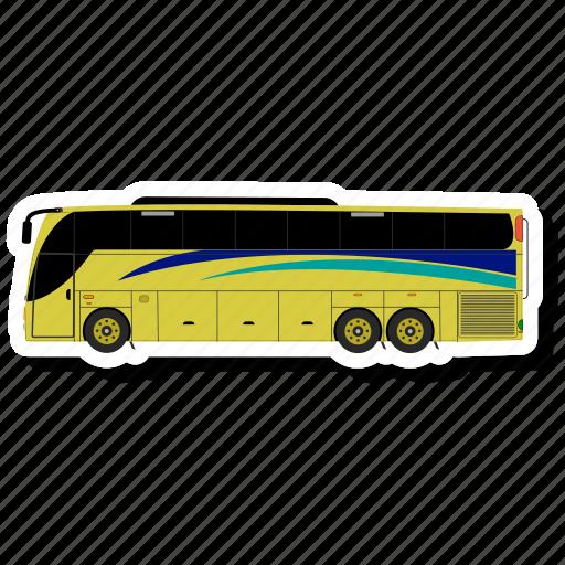 bus, luxury bus, transport icon
