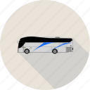 bus, luxury bus, transport icon