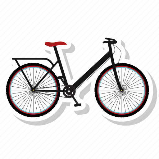 bicycle, bicycle path, bike, bike path, cycling icon