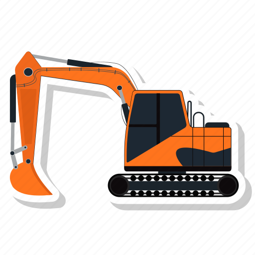 car, construction, crane, shadow, truck icon