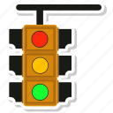 light, road, signal, traffic icon