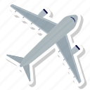 aircraft, airport, flight, plain icon