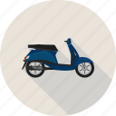 scooter, transportation, vespa icon