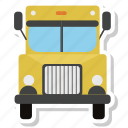 bus, school bus, delivery, truck, delivery truck, lorry, transport