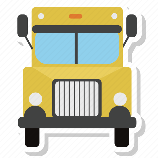 bus, delivery, delivery truck, lorry, school bus, transport, truck icon