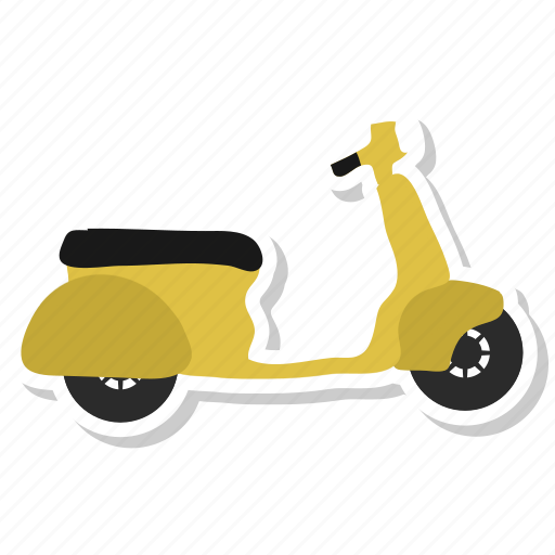 moped, scooter, transport, vehicle icon