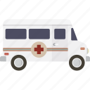 ambulance, emergency, healthcare, medical, transportation, vehicle icon